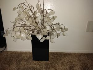 Faux Flower Pedal Vase for Sale in El Cajon, CA