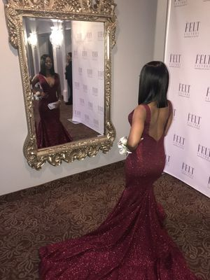 Burgundy Prom Dress With Long Train for Sale in Philadelphia, PA