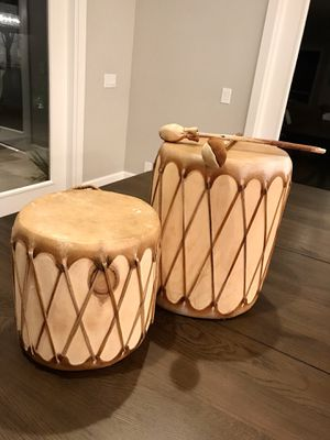 Set of 2 Authentic Indian Drums from NM for Sale in Las Vegas, NV