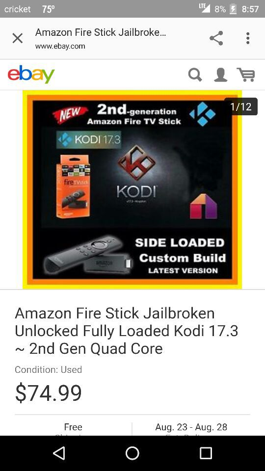 Amazon firestick 2nd gen with Alexa voice