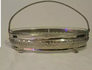 Antique Footed Glass And Silver Split Server for Sale in Fayetteville, NC