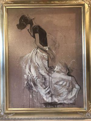 "Ballerina Framed Photo 48""X38"" for Sale in Battle Creek, MI"