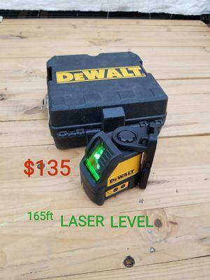 dewalt 165ft green crossline laser only $135 for Sale in Littlerock, CA