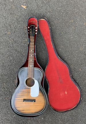 Vintage 1964 Silvertone 604 parlor acoustic guitar for Sale in Atlanta, GA