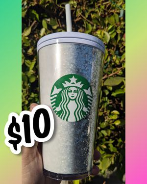 2020 Winter New Starbucks white/silver glitter cup for Sale in Los Angeles, CA