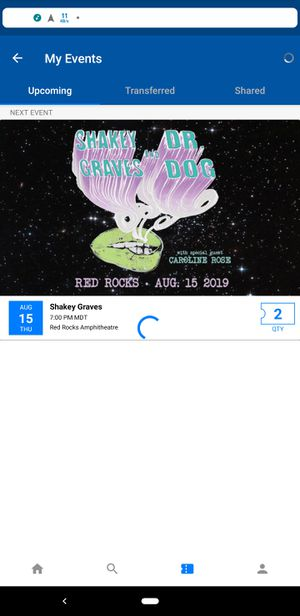 Shakey graves ticket for Sale in Morrison, CO