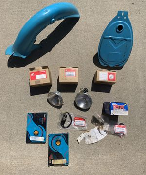 1982-1984 Honda Passport C70 motorcycle new parts: headlight, air filter, tube, chain for Sale in Carlsbad, CA