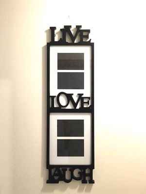 Decorative Black Photo Collage Frame Live Love Laugh for Sale in Minneapolis, MN