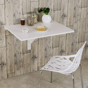 Wood Folding Wall-mounted Table Kitchen Desk Dining Table HW65685WH for Sale in South El Monte, CA