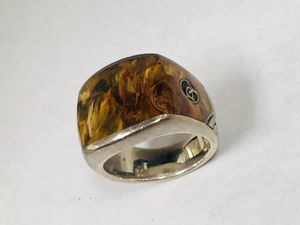 Authentic David Yurman 925 Sterling Silver Bronzite Inaly Band Men's Ring size 9 for Sale in Miami, FL