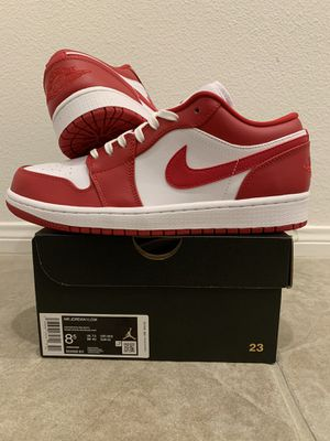 (Size 8.5) Air Jordan 1 Low Gym Red White for Sale in Orange, CA