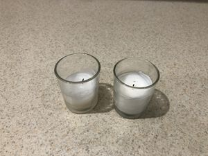 Voltaire Candle holders with candle 3 boxes x75=225 plus 25 =250 for Sale in Miami, FL
