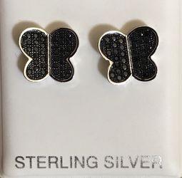.925 Sterling Silver Genuine Onyx Earrings for Sale in Anaheim,  CA