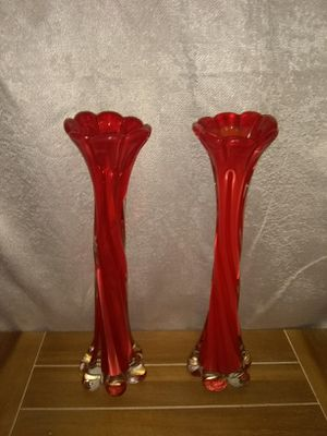 Murano Italian Glass Red Vases for Sale in Ashland City, TN