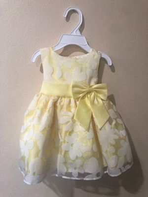 New Baby Girls Yellow Floral Easter Party Dress Size 6-12 Months for Sale in Hacienda Heights, CA
