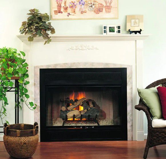 """Wood Burning or Gas Enabled Fireplace 36"""""""