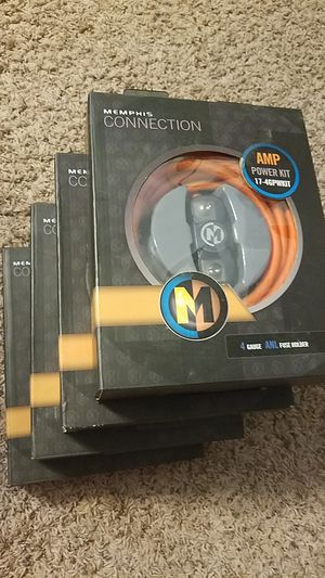 Memphis Car Audio 4 gauge kit for Sale in Indianapolis, IN
