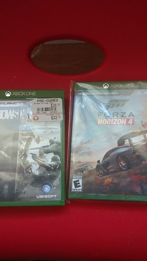Forza horizon 4 and rainbow six siege for Sale in Citrus Heights, CA