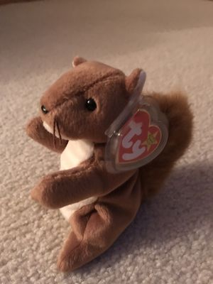 """Rare Ty Beanie Babies """"Nuts"""" 1996 with Mint Condition and Tag for Sale in Wichita, KS"""