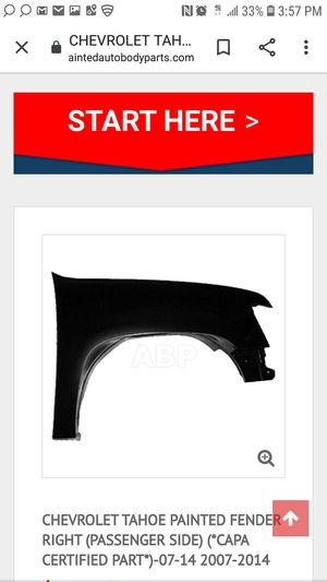 2007 to 2014 Tahoe Suburban right fender for Sale in Seabrook, TX