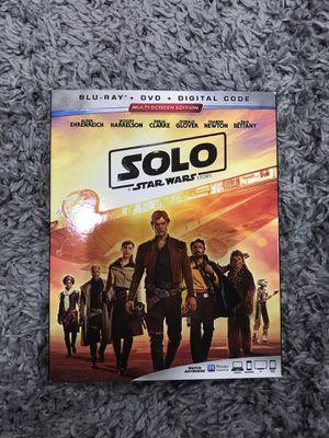 New solo Star Wars Blu Ray dvd digital copy combo for Sale in Margate, FL
