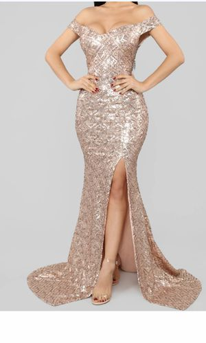 Sequin Maxi Dress-Rose Gold for Sale in Montebello, CA