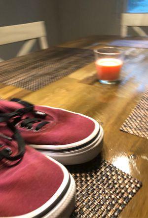 Maroon red vans size seven for Sale in Naples, FL