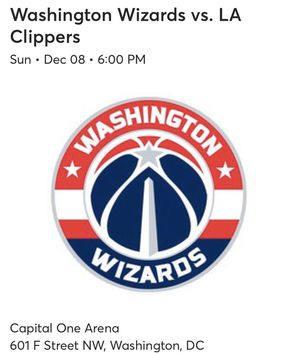 3 Wizards VS LA Clippers tickets for Sale in Falls Church, VA