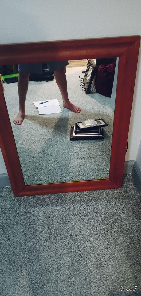 """33x25"""" wood framed mirror"""