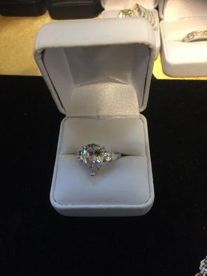 4.1 Carat Sterling Silver Jewelry CZ Diamond Ring Sz 7 for Sale in Fairfax, VA