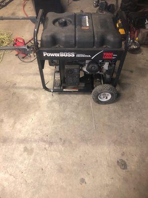 Powerboss Honda Generator 7000 watts for Sale in Sedro-Woolley, WA