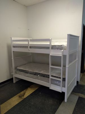Twin over twin bunk bed 40 down same day delivery for Sale in Columbus, OH