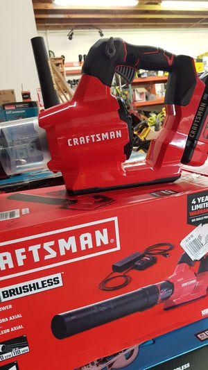CRAFTSMAN 60V CORDLESS BRUSHLESS 60V BLOWER KIT BATTERY AND CHARGER BRAND NEW for Sale in San Bernardino, CA
