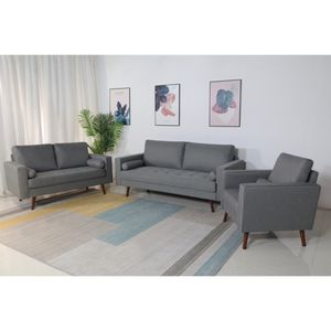 Brand New Stationary Linen Fabric Living Room Sofa Set for Sale in East Los Angeles, CA