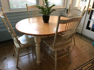 Shabby Chic / Farmhouse Dining Table + 4 Chairs for Sale in St. Petersburg, FL