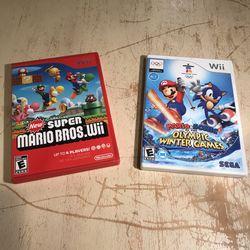 Nintendo Wii Super Mario Bros & Mario Vs Sonic Olympic Games Bundle for Sale in Silver Spring,  MD
