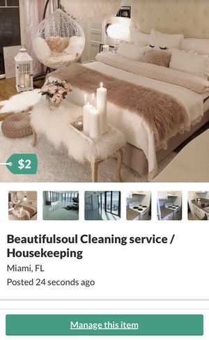 Housekeeping lady for Sale in Aventura, FL