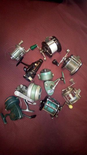 Collection of vintage fishing reels for Sale in Philadelphia, PA