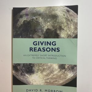 Giving Reasons by David R. Morrow for Sale in San Diego, CA