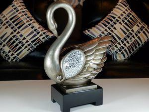 """16.5""""H Silver Decorative Swan Décor for Sale in Alexandria, VA"""