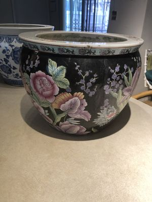 Beautiful Hand Painted Flower Pot for Sale in Port Richey, FL