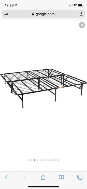 Metal platform queen bed frame for Sale in Philadelphia, PA