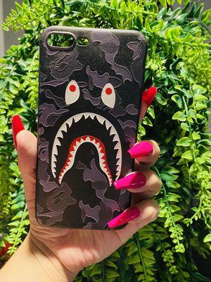 Brand new cool iphone 7+ or 8+ PLUS case cover rubber bape camo girls guys mens womens skate skateboard brands hype hypebeast fundas for Sale in San Bernardino, CA