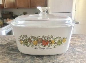 VINTAGE CORNING WARE 'SPICE OF LIFE' LA MARJOLAINE 3 QT. CASSEROLE BAKING DISH PYREX LID for Sale in Pittsburgh, PA