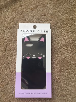 Black cat case for iPhone 6/7/8 for Sale in Tampa, FL