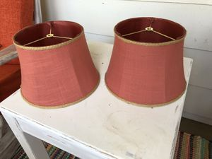 2 lamp shades - coral for Sale in Barrington, NJ