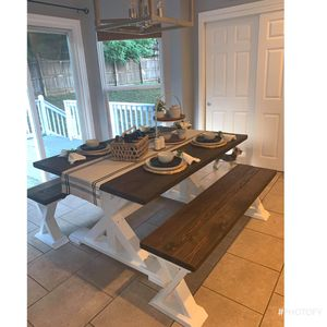 FarmHouse Dining Table And Benches for Sale in Murfreesboro, TN