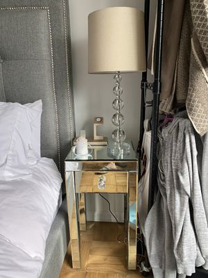 Selling mirrored nightstand and lamp! for Sale in New York, NY