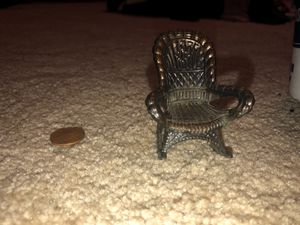 Antique Miniature Metal Rocking Chair Figurine for Dolls or Figurines DollHouse, Fairies, Fairy Garden, Fairy for Sale in Plainfield, IL