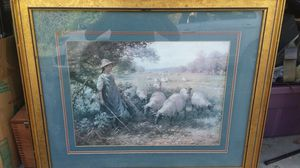 Girl with sheep painting for Sale in Lumber City, GA